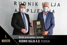 Rudnik uglja nagrađen u projektu 100 najvećih u Crnoj Gori